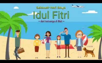 Selamat Idul Fitri dari keluarga di Bali